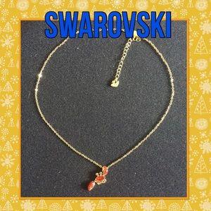 Swarovski red crystal Crab necklace